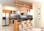 Tủ bếp gỗ Laminate có đảo TBT0094