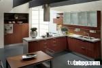Tủ bếp gỗ Acrylic có đảo TBT0088