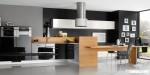 Tủ bếp gỗ Acrylic có đảo kết hợp TBN0205