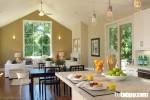 Góc bếp đẹp nối liền với phòng khách, một không gian không thể tuyệt hơn