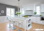 Gỗ xoan đào sơn trắng giúp căn bếp hoàn hảo một cách tự nhiên
