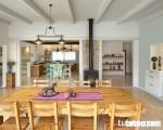 Thiết kế không gian nội thất phòng ăn theo phong cách mộc mạc và gần gũi