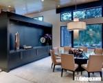Phòng ăn đẹp với tủ trang trí bằng gỗ sồi phun sơn PU 5 lớp cao cấp