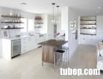 Tủ bếp Laminate cao cấp thiết kế mở, đẹp từng centimet cho căn hộ nhỏ