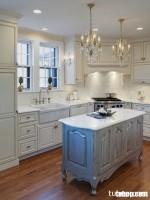 Tủ bếp gỗ sồi Mỹ sơn giả cổ, phong cách thể hiện đẳng cấp