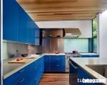 Tủ bếp Acrylic màu xanh biển, sắc màu của sự độc đáo và hiện đại
