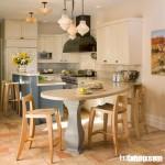 Tủ bếp gỗ sồi Nga giá rẻ, giải pháp hoàn hảo cho không gian trần bếp thấp