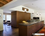 Tủ bếp Veneer MDF vân gỗ sồi, phong cách hiện đại và cực tiết kiệm chi phí