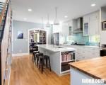Tủ bếp Melamine MFC trắng tinh khiết, đẹp hơn và tiết kiệm chi phí hơn