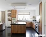 Tủ bếp gỗ xoan đào phong cách hiện đại, vẻ đẹp của sự thanh tao