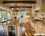 Tủ bếp gỗ Ash sơn trắng, vẻ đẹp mang nét cổ điển và cực kỳ sang trọng