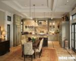 Tủ bếp Acrylic có đảo TBT0304