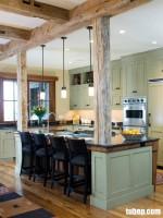 Chất mộc làm nên sự quyến rũ cho nội thất phòng bếp
