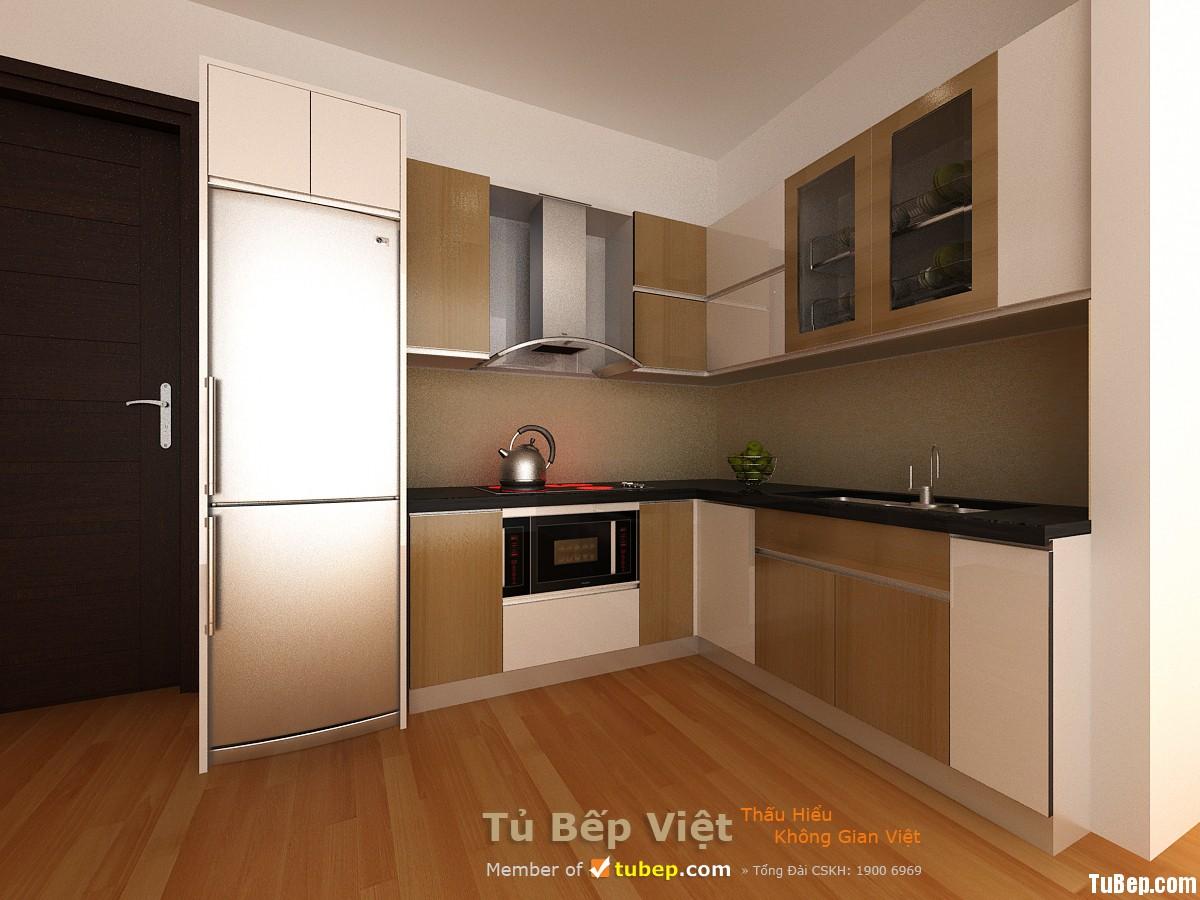 Nhà chị Bích Hiên 2 1 Tủ bếp MDF Laminate   TBN012