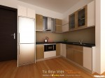 Tủ bếp gỗ Sồi sơn men TBT0380