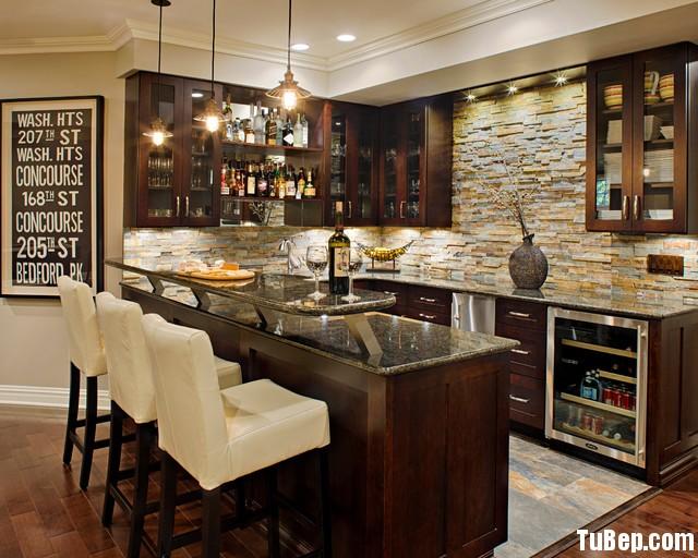 18 Tủ bếp Gỗ tự nhiên – TBN114