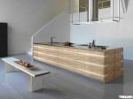 Tủ bếp laminate dạng chữ I TBT0025