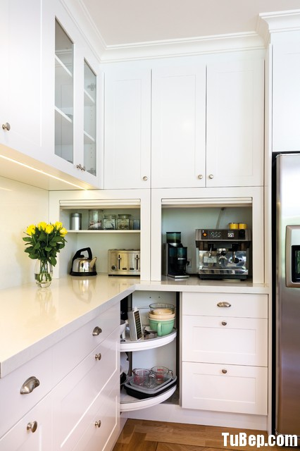 transitional kitchen2 Tủ bếp gỗ Sồi  tự nhiên sơn men TBN001
