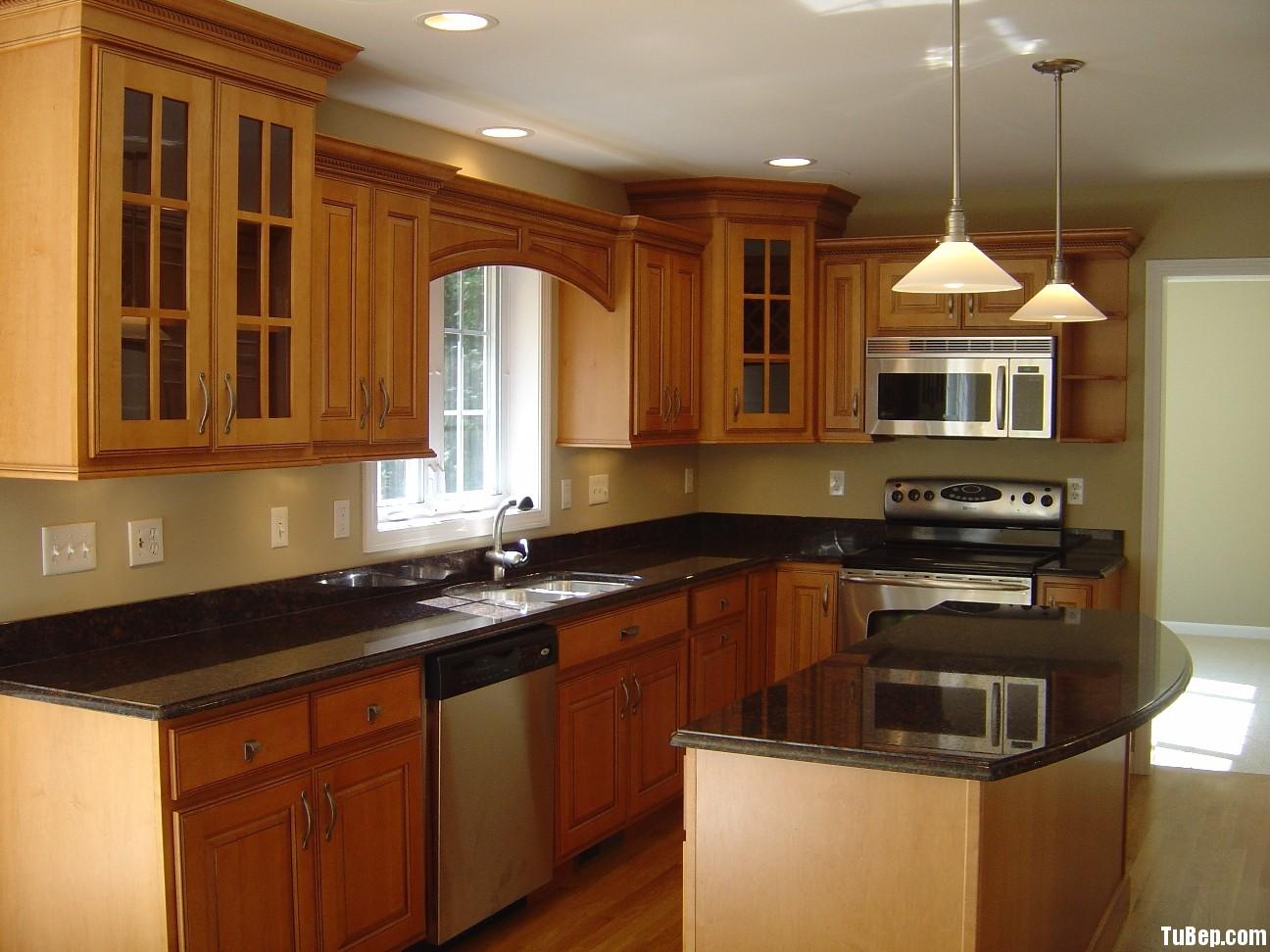 inspire ultra luxury kitchen ideas Tủ bếp gỗ xoan đào có đảo TBN0012
