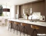 Tủ bếp laminate có đảo – TBN103