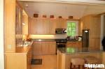 Tủ bếp gỗ Acrylic màu vàng chữ L TBT0395