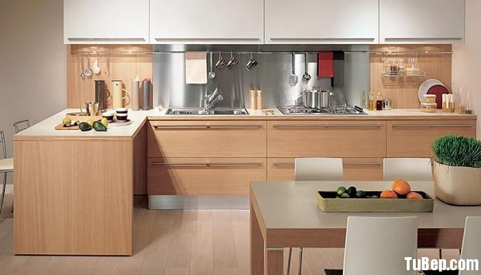 Laminate vân gỗ sồi kết hợp trắng Tủ bếp Laminate TBT0277