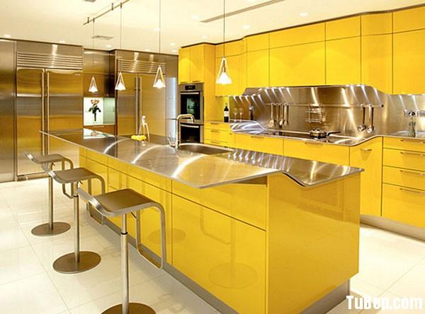 kitchen island 28 Tủ bếp Acrylic có đảoTBT0052
