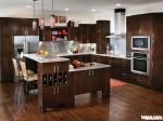 Tủ bếp gỗ Laminate chữ L TBT0063