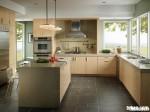 Tủ bếp gỗ Laminate có đảo TBT0083