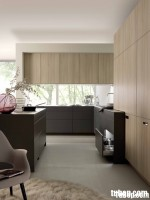 Tủ bếp gỗ Xoan Đào sơn men TBT0410
