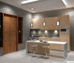 Tủ bếp laminate có đảo TBN0079
