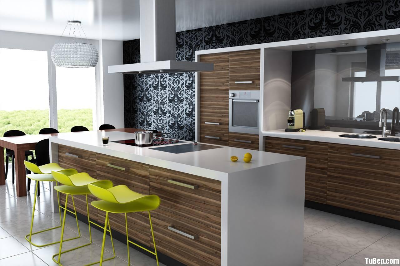 h4 Tủ bếp laminate phong cách hiện đại TBT0030