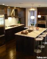 Tủ bếp MDF Laminate, có bàn đảo – TBB226