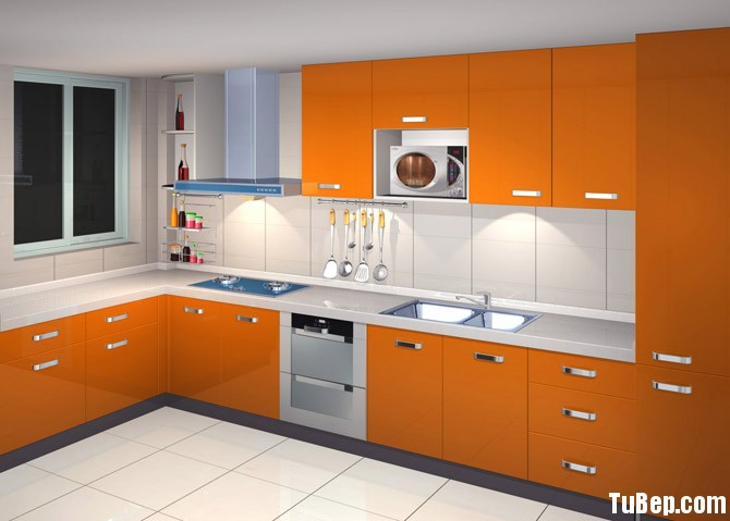 kitchen cabinets refacing Tủ bếp gỗ Acrylic TBT0089