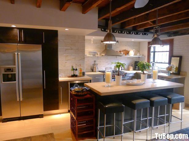 DP Kathleen Perkins white contemporary kitchen h lg Tủ bếp gỗ Acrylic có đảo TBT0088