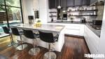 Tủ bếp gỗ MDF Acrylic có bàn đảo và hệ tủ kho – TBB039