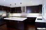 Tủ bếp gỗ tự nhiên sơn men có đảo TBT0411