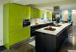 Tủ bếp Acrylic kết hợp Laminate có đảo TBT0258