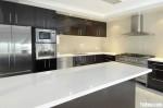 Tủ bếp gỗ Acrylic có đảo TBT0103