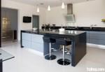 Tủ bếp gỗ Căm Xe tự nhiên chữ U TBT0715