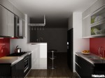 Tủ bếp gỗ MDF Acrylic – TBB021