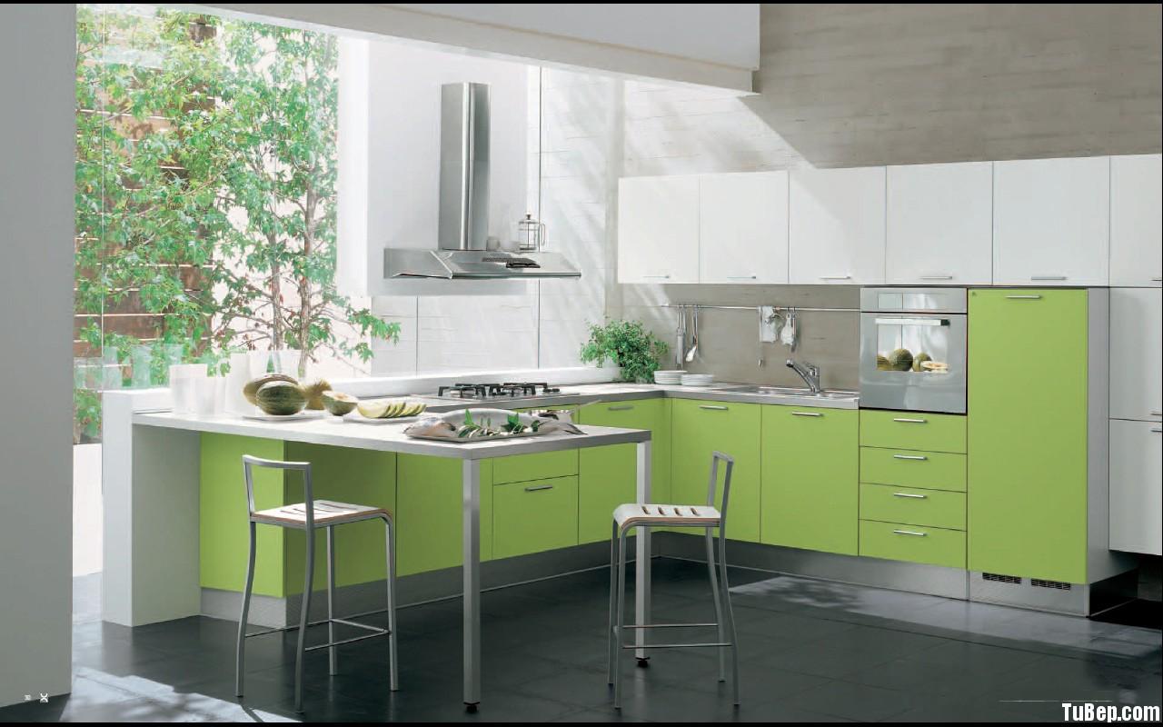 Laminate xanh nhạt1 Tủ bếp Laminate TBT0279