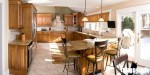 Tủ bếp gỗ Sồi Mỹ – TBB055