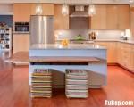 Tủ bếp gỗ tự nhiên có đảo TBT0254