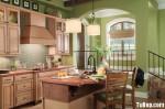 Tủ bếp gỗ Tần bì, Có bàn đảo – TBB110