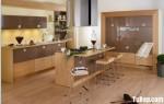 Tủ bếp Laminate màu vân gỗ chữ L TBT0505