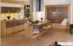 Tủ bếp gỗ Acrylic có đảo TBT0518