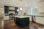 Tủ bếp gỗ Sồi verneer sơn men có đảo TBN0104