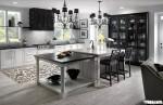 Tủ bếp gỗ tự nhiên sơn men trắng chữ U TBT0484