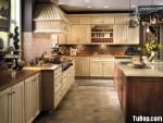 Tủ bếp gỗ Laminate màu trắng phối xám TBT0546